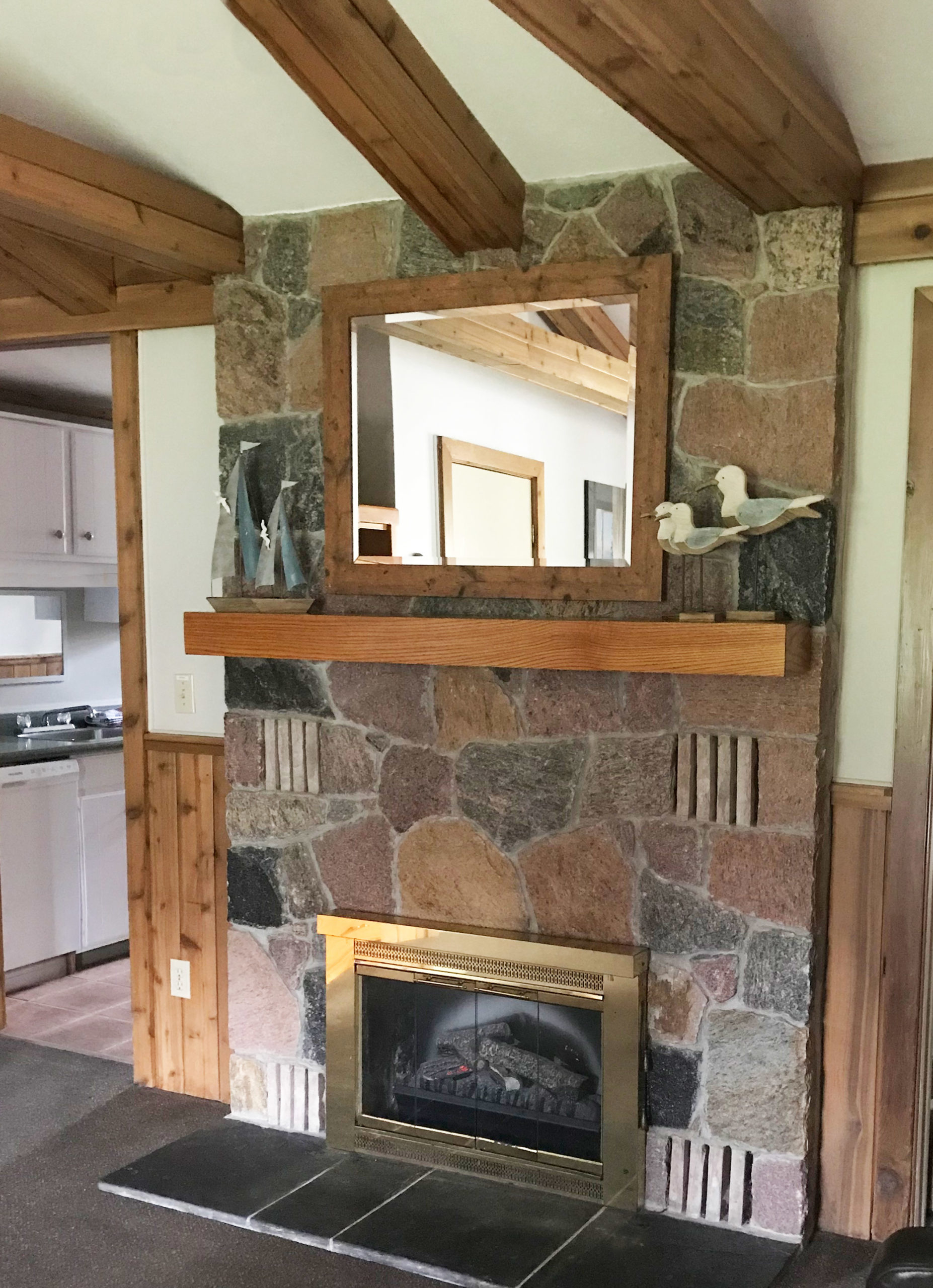 Bluewater Cottage Fireplace