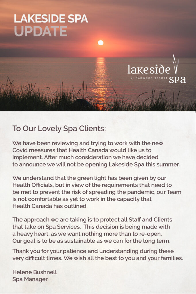 Lakeside Spa Oakwood Resort Grand Bend